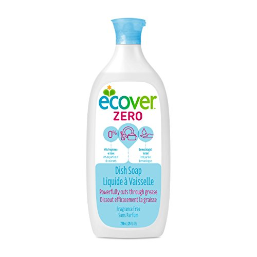Rinse Free Soap - Ecover Zero Dish Soap, Fragrance Free, 25 Ounce (Pack 6)
