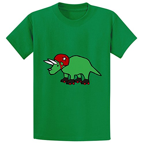 Unicorn Roller Derby Triceratops Unisex Customized Crew Neck Tees Green (Mime Masks For Sale)