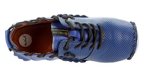 Dvina TMA Damen Freizeitschuhe Leder Blau 8677 Pumps Halbschuhe qXa8fT