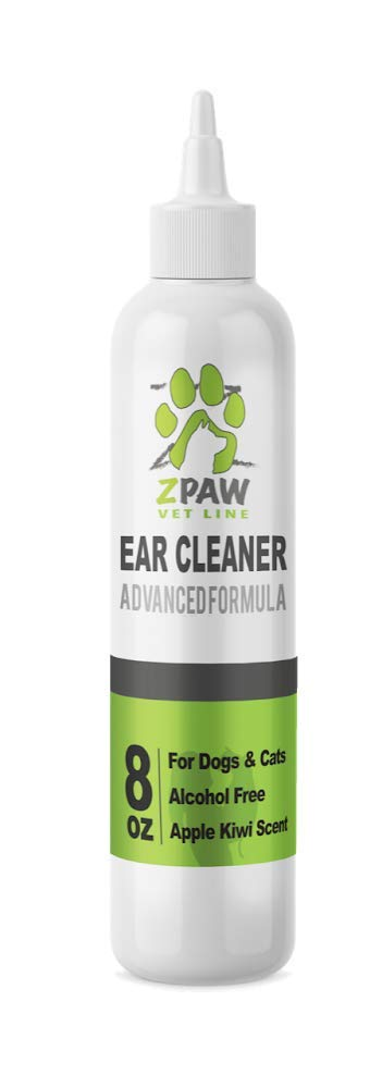 ZPAW Dog Ear Cleaning Solution Advanced Formula Ear Cleaning Solution for Dogs Infection and Yeast Infection Treatment for Dogs Antibiotic Ear Wash Alcohol Free Apple and Kiwi Scent (8oz)