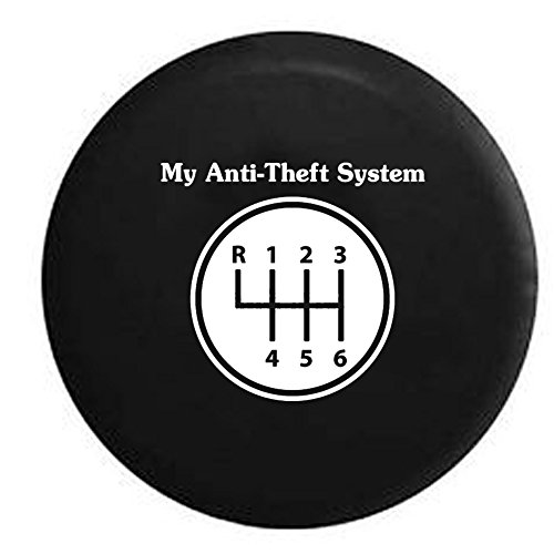 My Anti-theft System Manual Stick Clutch Transmission Spare Tire Cover Black 33 in