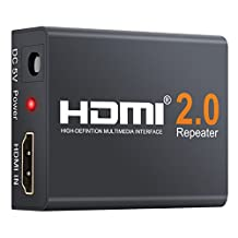 Neoteck HDMI Repeater 2160P 3D 4K 2K 60 Meters HDMI 2.0 Extender Booster Adapter Mini Size Metal Shell for Data Center Control Information Distribution Conference Room Presentation School and Corporate Training Environments