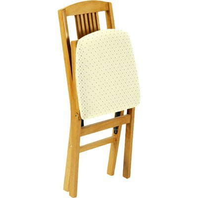 (Stakmore Simple Mission Folding Chair Finish, Set of 2, Oak)