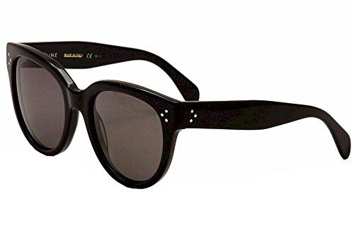 Celine Women's 41755/S 41755S 807/3H Black Polarized Cat Eye Sunglasses - Sunglasses Cat Celine Eye