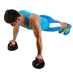 HAIQING Non-Slip Rotating Push up Stands for Upper Body Workout, CrossFit or Fitness Training