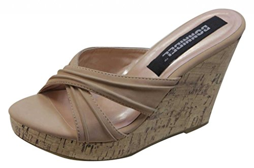 Bonnibel wedge Camel summer platform 6A upper Womens slouchy crossing slippers Desire FFq8r6nA