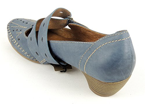 Jana 37 vestir Zapatos de Azul azul 5 mujer Piel de Azul para 6q6zr
