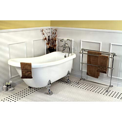 Kingston Brass Vintage Collection 67-inch Acrylic Slipper Clawfoot Tub and Faucet Pack ()
