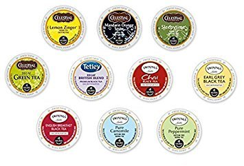 30 Count - Variety Decaf Tea K-Cup for Keurig K Cup Brewers and 2.0 Brewers - (10 Flavors, 3 K-Cups each)