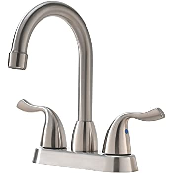 Hotis Commercial Two Handle Stainless Steel Brushed Nickel Bathroom ...