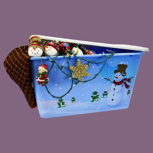 Assorted 4-pack of holiday storage totes with lids