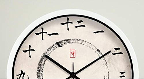 fwerq Zen Health Road Style Watches and Clocks wall clock of a lounge in the decoration of the hotel silence of ink color Select Quartz Clock (: # 3, Size: 40cm) by fwerq (Image #4)