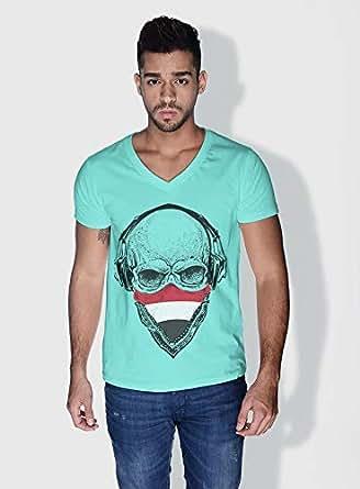 Creo Yemen Skull T-Shirts For Men - M, Green
