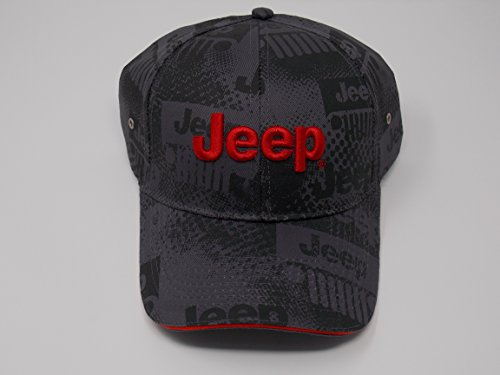 Jeep Charcoal Watermark Cap, Gray, Adjustable - http://coolthings.us