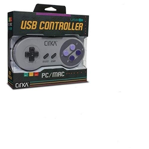 """CirKa """"S91"""" Premium SNES USB Controller para PC /Mac"""