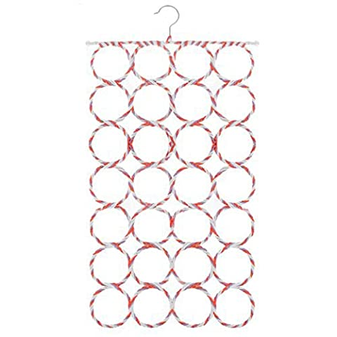 GTHUNDER Scarf Hanger Holder Tie Hanger with 28 Count Circles (1, Random) - Circle Print Tie