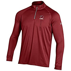 NCAA South Carolina Fighting Gamecocks Boy's Tech Quarter Zip Tee, Cardinal, Medium