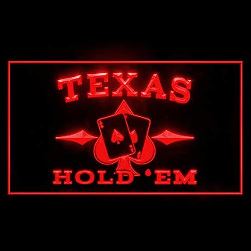 (230097 Texas Hold'em Pocker Casino Ace Royal Flush Display LED Light Sign)