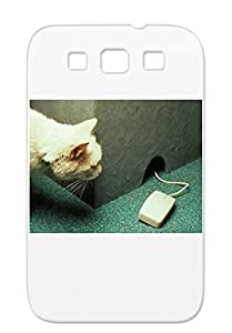 Office Humor Funny Scratch-free For Sumsang Galaxy S3 Black Mouse Cover Case