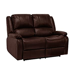 RecPro Charles 58  Double RV Zero Wall Hugger Recliner Sofa Loveseat Mahogany  sc 1 st  Amazon.com : wall hugger recliners for rvs - islam-shia.org