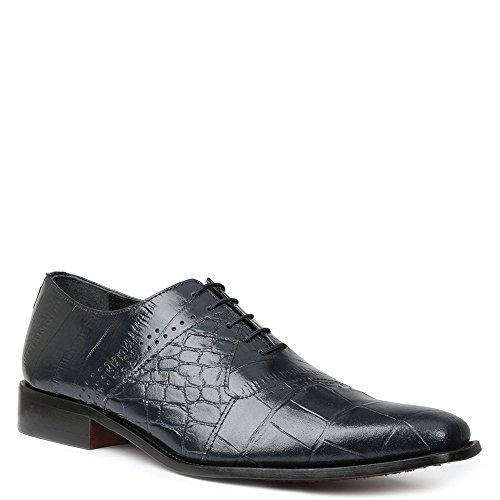 Giorgio Brutini Men's Carack Plain Toe Oxford,Navy Leather,US 10 M Mens Giorgio Brutini Plain Toe