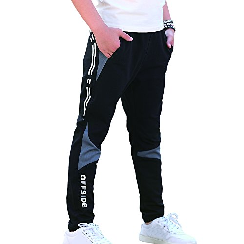 CNMUDONSI Sweatpants For Boys Casual Athletic Clothing (KN731Black12T)