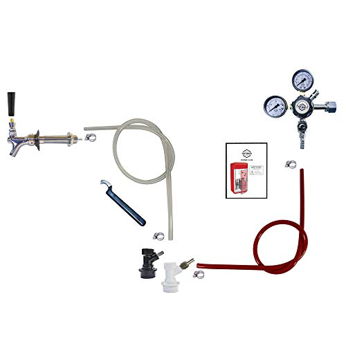 Standard Homebrew Kegerator Refrigerator Conversion Kit (CO2 tank and Keg are NOT included)