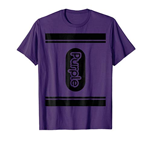Purple Crayon Halloween costume t shirt couple friend group