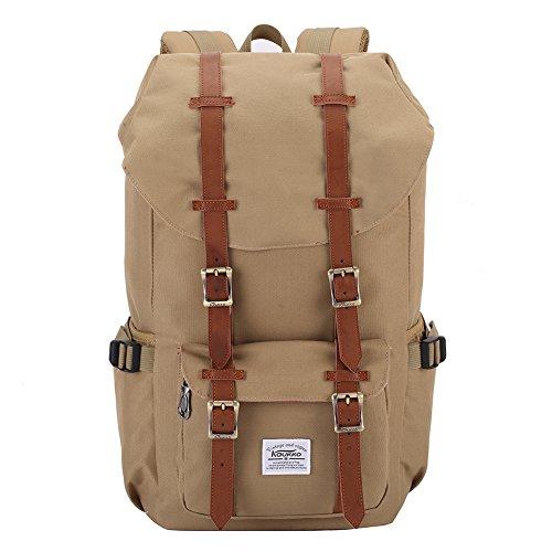 KAUKKO Water-repellent Nylon Shoulder Backpack Rucksack Bookbag Satchel Travel Hiking Bag Daypacks