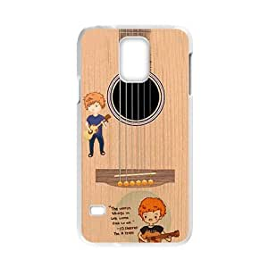 Hot Sale Cartoon Ed Sheeran Guitar Style Image Hard Plastic Cover Case (HD Image) For Samsung Galaxy S5