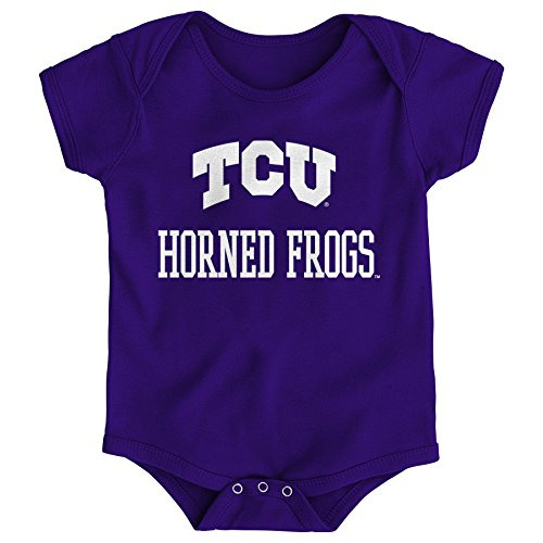 Gen 2 NCAA TCU Horned Frogs Newborn & Infant Primary Logo Bodysuit, 6-9 Months, Regal Purple