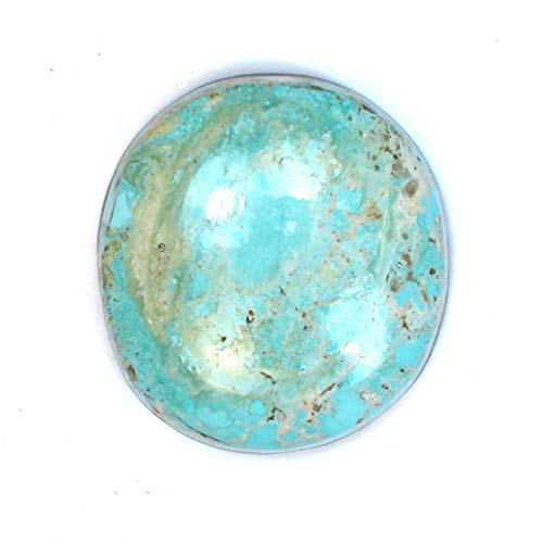 DVH 32ct Persian Turquoise Cabochon Genuine and Natural Cab 27x25x7mm (1799)