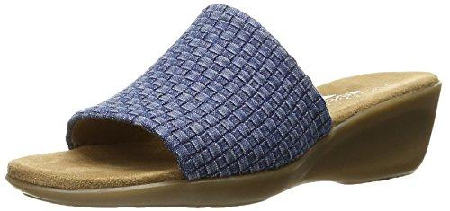 Aerosoles de bádminton para mujer sintético sandalias de cuña Denim