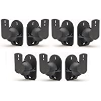 TechSol Essential TSS1-B - 7 Pack of Black Universal Speaker Wall Mount Brackets