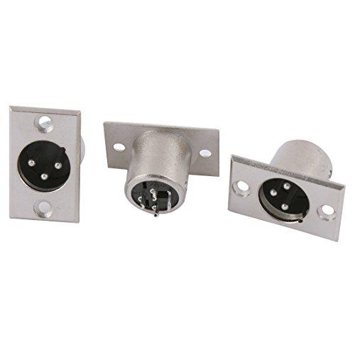 xlr panel mount connector - 6