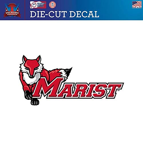 (Victory Tailgate Marist College Red Foxes Die-Cut Vinyl Decal Logo 2 (Approx 6x6) )