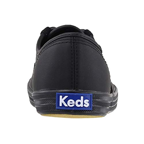 Keds Women's Champion Black/Black Leather Shoes Wide Width women's 12 by Keds (Image #3)