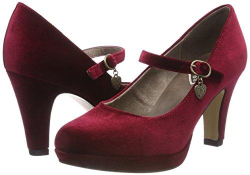 Scarpe Rosso dark oliver Tacco Con 31 24410 Donna Red 505 S O7awqAxx