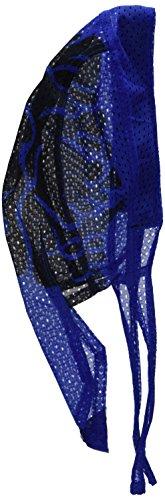 (Zanheadgear ZX229RB Vented Flydanna Bandanna, 100% Polyester Mesh, Royal Blue Flames)