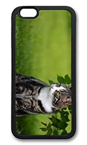 MOKSHOP Adorable cat outdoor Soft Case Protective Shell Cell Phone Cover For Apple Iphone 6 Plus (5.5 Inch) - TPU Black