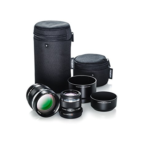 Olympus Portrait Lens Kit (M.Zuiko 75mm f1.8 and M.Zuiko 45mm f1.8 Black Lenses)