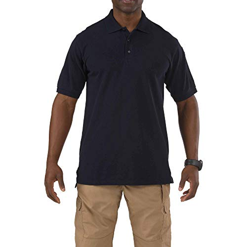 (5.11 Tactical Men's Short-Sleeve Professional Polo, Dark Navy,)