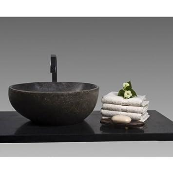 Wohnfreuden Stein Waschbecken Waschbecken Aus Stein 40 Cm Poliert