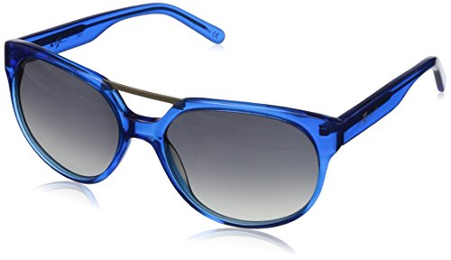 7 For All Mankind Women's 7901 Round Sunglasses, Bright Blue, 56 - Mankind All Sunglasses For