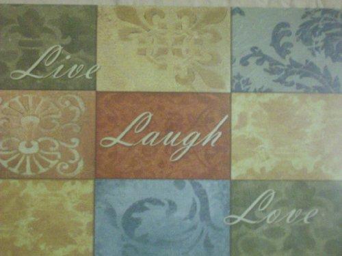Live Laugh Love Vinyl Place Mats ~ Set of 4