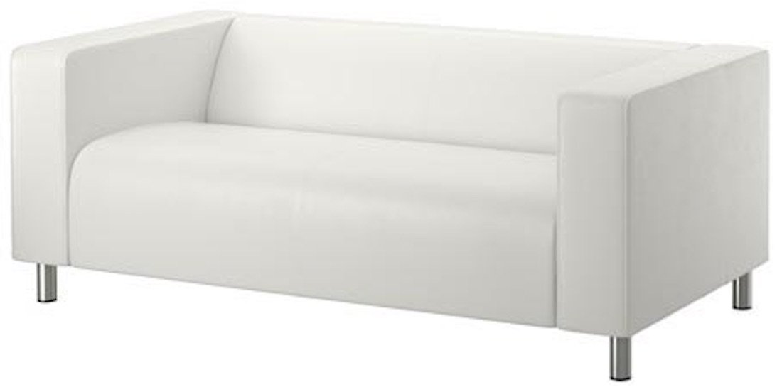 The PU Leather Klippan Loveseat Sofa Cover Replacement Is Custom Made for Ikea Klippan Loveseat Sofa Slipcover. (Pu Leather White)