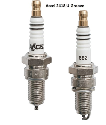 - Accel 2418 Spark Plugs (Pair) 6R12 for Harley Davidson Twin Cam