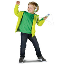 Rock out to kid approved music or listen to an engaging audio book.