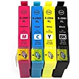 ***FREE POST**** 1 Full set of High Capacity 4 XL Non Oem Ink Cartridges for Epson Expression Home XP-245 XP-247 XP-342 XP-442 XP-235, XP-332, XP-335, XP-432, XP-435 Printers to replace 29xl Strawberry Seris Ink Cartridges