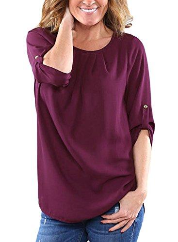 Dokotoo Womens Chiffon Blouses T Shirts